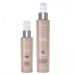Kemon AND zestaw do pięlegnacji włosów | Seal Serum 100ml, Heat Spray 200ml