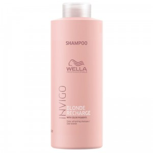 Wella Invigo Blonde Recharge Cool blonde szampon ochładzający kolor blond 1000ml