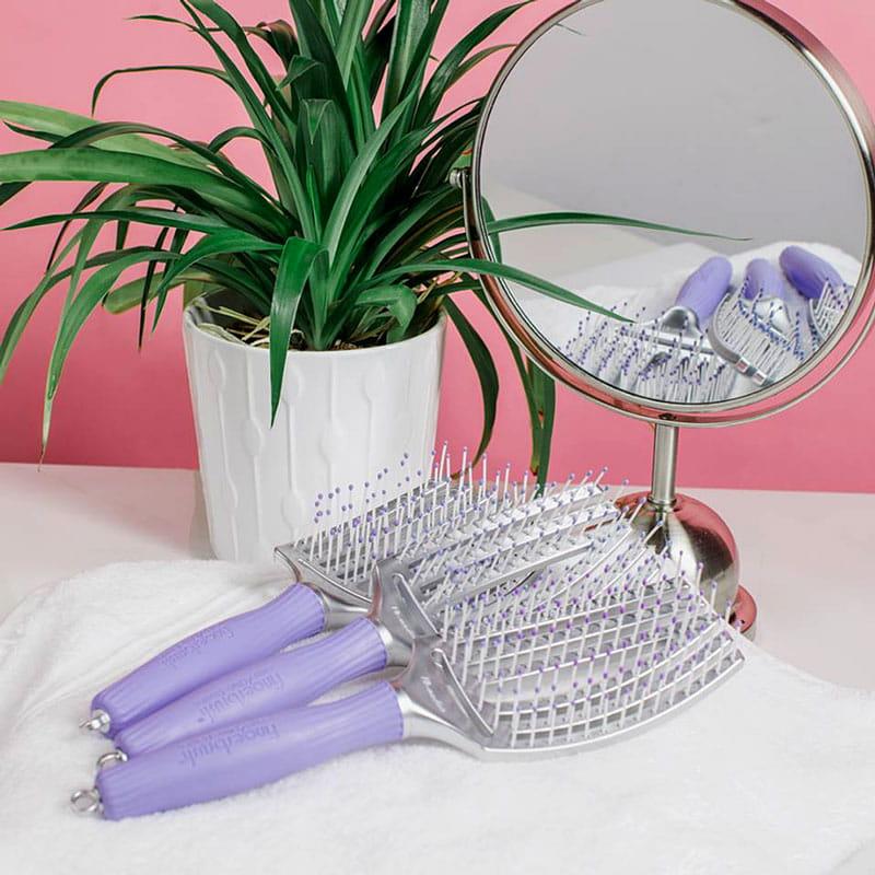 Olivia Garden Finger Brush Zestaw 3 Szczotek Fioletowe S M L Friser Pl