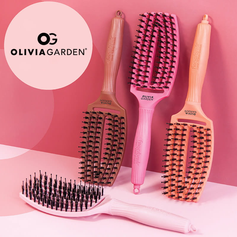 Olivia Garden Finger Brush Combo Blush Rose Szczotka Do Wlosow Friser Pl
