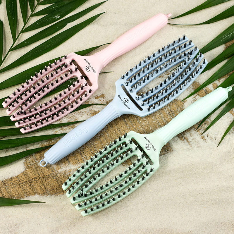 Olivia Garden Finger Brush Combo Szczotka Do Wlosow Pastel Blue Medium
